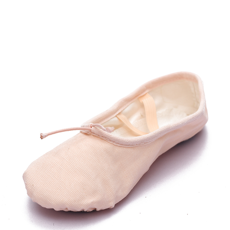 Women's Canvas Flats Ballet Belly Dance Shoes
