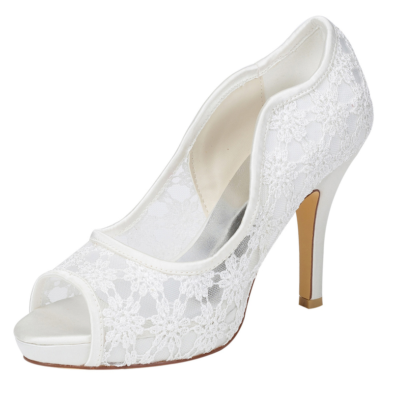 Women's Silk Like Satin Stiletto Heel Pumps With Hollow-out
