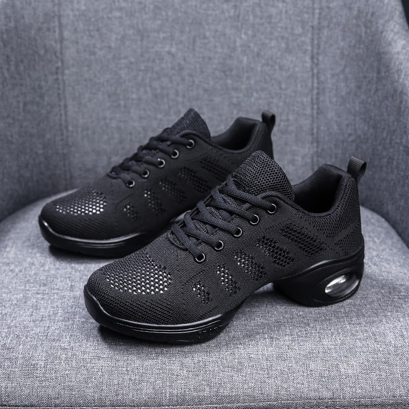 Women's Cloth Sneakers Modern Jazz Sneakers With Hollow-out Dance Shoes