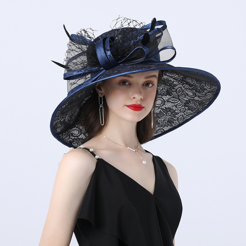 Ladies' Hottest/Romantic Polyester With Bowknot Beach/Sun Hats/Tea Party Hats