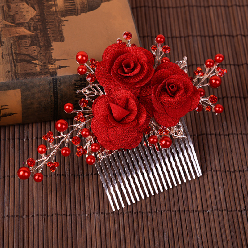 Ladies Beautiful Imitation Pearls/Fabric Combs & Barrettes With Venetian Pearl (Sold in single piece)
