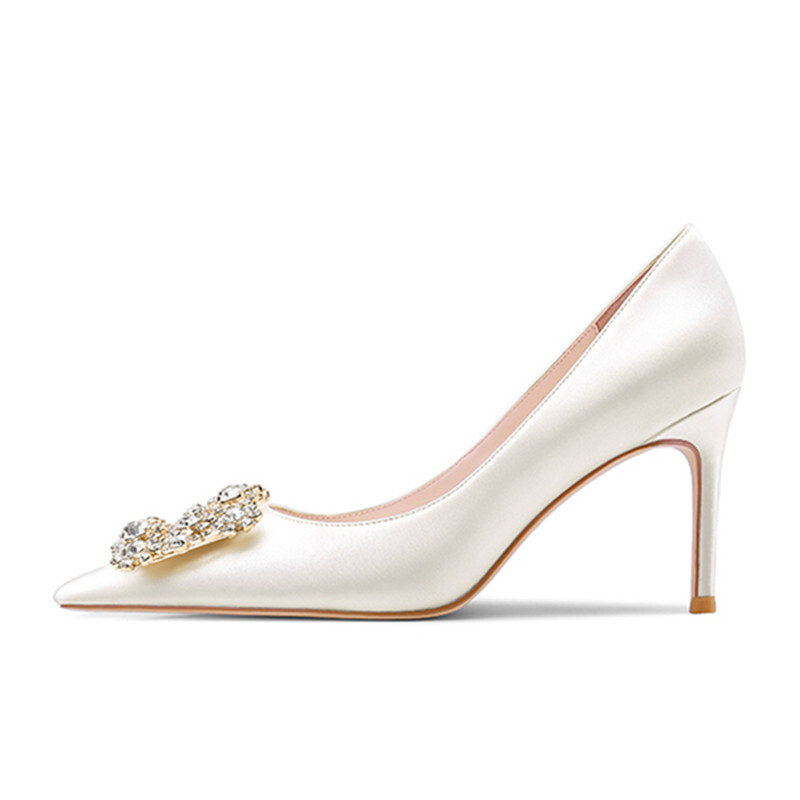 Kvinnor Stilettklack Pumps med Strass skor