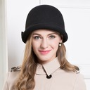 Ladies' Lovely Wool Bowler/Cloche Hat