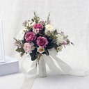 Elegant Round Satin/Ribbon Bridal Bouquets (Sold in a single piece) - Bridal Bouquets