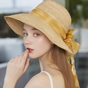 Ladies' Simple/Hottest Raffia Straw With Bowknot Beach/Sun Hats/Tea Party Hats