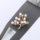 Beautiful Alloy Rhinestones Imitation Pearls With Imitation Pearl Ladies' Fashion Brooches (Sold in a single piece)