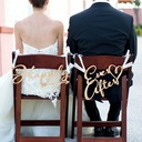 Simple Classic/Elegant Wooden Wedding Sign (set of 2)
