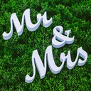 "PVC ""Mr. & Mrs."" Wedding Decorations"