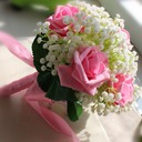 Girly Free-Form Satin/Artificial Silk Bridal Bouquets -