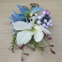 Pretty Free-Form Artificial Silk Boutonniere/Men's Accessories