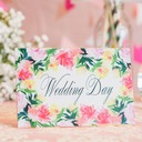 Personalized Spring Flower 250 g Matt Art Paper Invitation Cards (Set of 10)