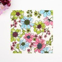 Flower Pattern Dinner Napkins (Set of 50 )