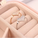 Elegant Copper/Zircon Ladies' Rings