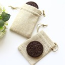 Natural Burlap Favor Bag Wedding Favor (Set of 12)