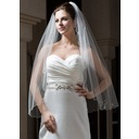 One-tier Fingertip Bridal Veils With Scalloped Edge (006034108)