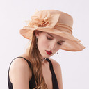 Ladies' Elegant/Fancy Net Yarn/Lace/Chiffon With Flower Beach/Sun Hats/Kentucky Derby Hats/Tea Party Hats