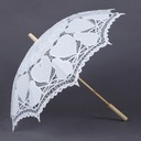 Delicate Cotton Wedding Umbrellas