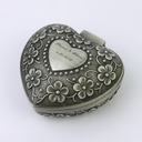 Personalized Heart-shaped Tins Jewelry Holders (Personalized information is only English)