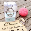"""""""With This Ring""""Crystal Ring Keychain"""
