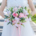 Pretty Free-Form Satin/Fabric Bridal Bouquets -