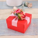 Flower Design Cubic Favor Boxes With Flowers (Set of 12)