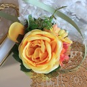 Hand-tied Wrist Corsage/Boutonniere (Sold in a single piece) -