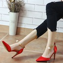 Women's Silk Like Satin Stiletto Heel Closed Toe Pumps Sandals With Buckle Imitation Pearl