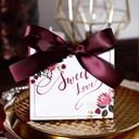 Sweet Love/Classic Other Card Paper Favor Boxes With Ribbons (Set of 30)
