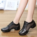 Women's Leatherette Fabric Sneakers Sneakers With Hollow-out Dance Shoes