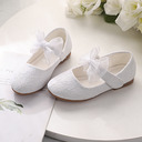 Girl's Closed Toe Low Heel Flower Girl Shoes