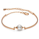 Ladies' Shining 925 Sterling Silver Pearl Bracelets For Friends/For Couple