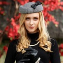 Ladies ' Stof med Bowknot Baret Hat