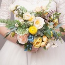 Free-Form Silk/Cloth Bridal Bouquets/Bridesmaid Bouquets -