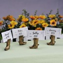 Vintage Style Shoes Design Resin Place Card Holders (Set of 4)