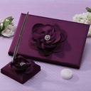 Flowers Design Rhinestones Guestbook & Pen Set