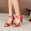Women's Leatherette Heels Sandals Pumps Latin Dance Shoes