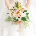 Blooming Round Cloth Bridal Bouquets/Bridesmaid Bouquets -