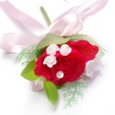 Eye-catching Round Artificial Silk Boutonniere/Men's Accessories