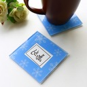 """Tea Time""/Lovely Square Glass Tea Party Favors (Set of 2)"