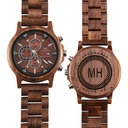 Groomsmen Gifts - Personalized Modern Mens Custom Engraved Wooden Watches
