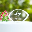 Personalized Lovely Birds Crystal Cake Topper