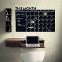 Blackboard Calendar Record Printed Wall Sticker (Sold in a single piece)