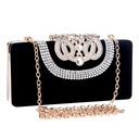 Elegant Suede/Alloy Clutches