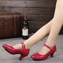 Women's Sparkling Glitter Heels Pumps Character Shoes With Ankle Strap Dance Shoes
