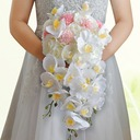 Cascade Satin/Silk Bridal Bouquets -