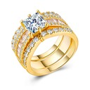 Shining Alloy/Zircon Ladies' Rings