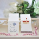 Personalized Heart design Hard Card Paper Matchboxes (Set of 50)