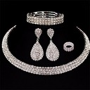 Shining Alloy Rhinestones Women's Jewelry Sets