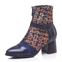 Women's Leatherette Chunky Heel Boots With Split Joint shoes