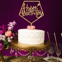 Classic/Happy Birthday Acrylic Cake Topper